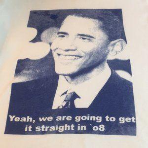 Barack Obama President 2008 Campaign Tee Jr XL